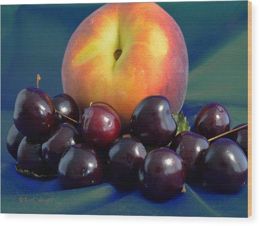 August Fruits Wood Print