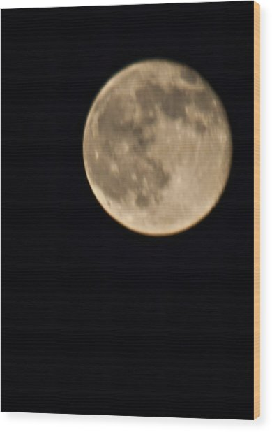 August Moon Wood Print by Bill Perry