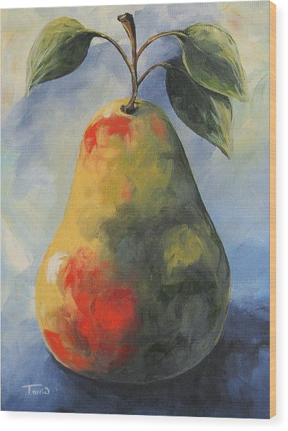 August Pear Wood Print by Torrie Smiley