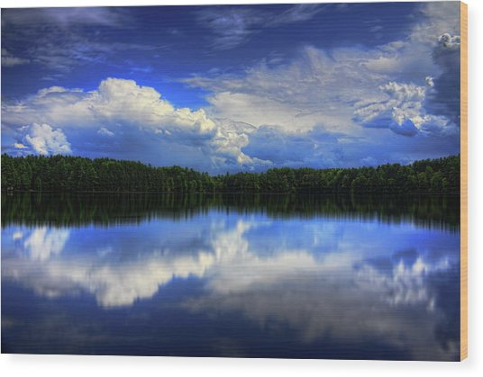 August Summertime On Buck Lake Wood Print