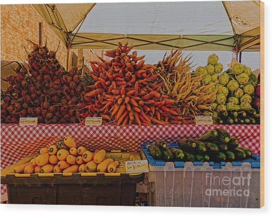 August Vegetables Wood Print