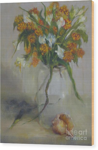 August Wildflowers        Copyrighted Wood Print by Kathleen Hoekstra