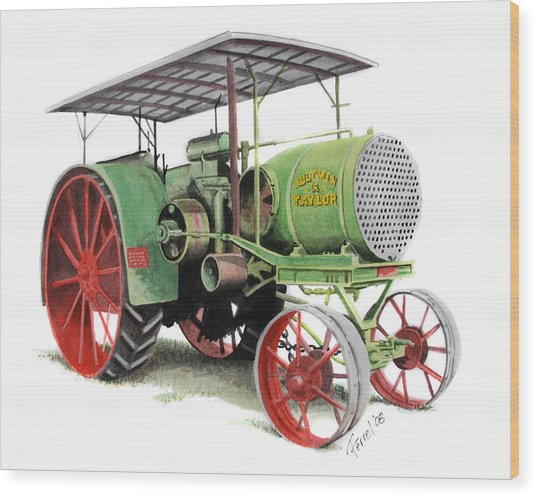 Aultman And Taylor Tractor Wood Print