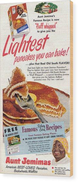Aunt Jemima Pancakes Wood Print