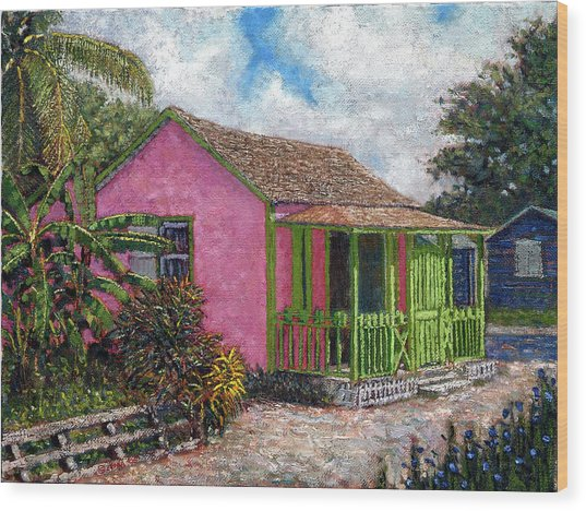 Aunt Suzy's Cottage Wood Print