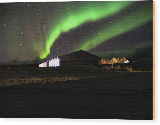 Aurora Borealis - 1 Wood Print