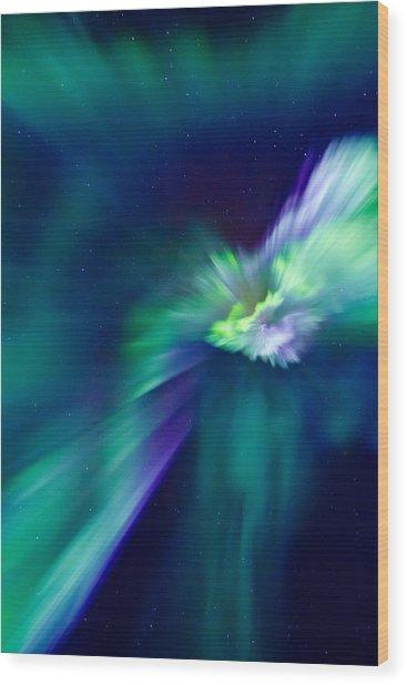 Aurora Corona Wood Print