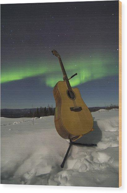 Aurora Instrumentalis Wood Print