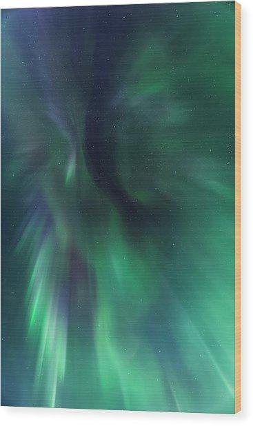Aurora Kaleidoscope Wood Print