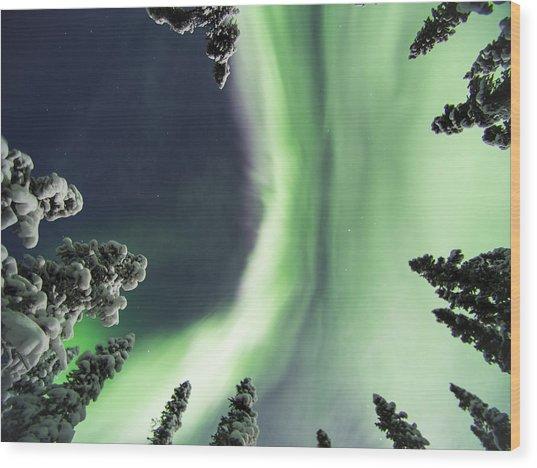 Aurora Lying On Your Back Wood Print