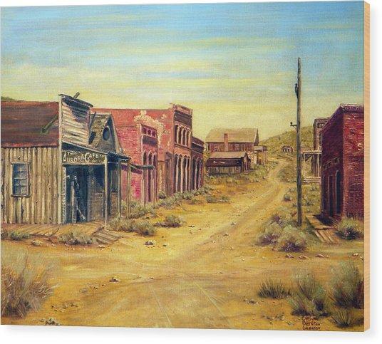Aurora Nevada Wood Print by Evelyne Boynton Grierson