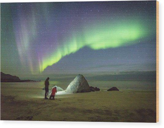 Aurora Photographers Wood Print