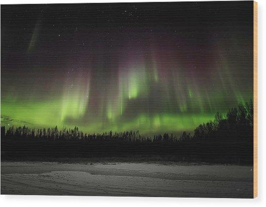 Aurora Wall Wood Print