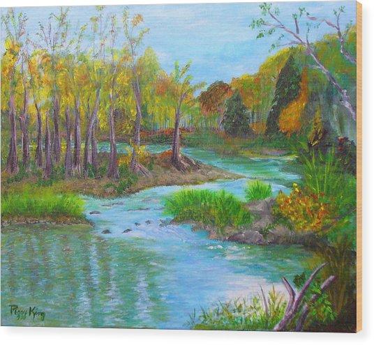 Ausable River Wood Print