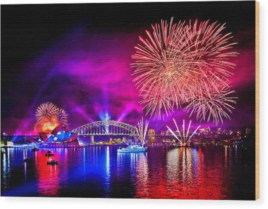 Aussie Celebrations Wood Print