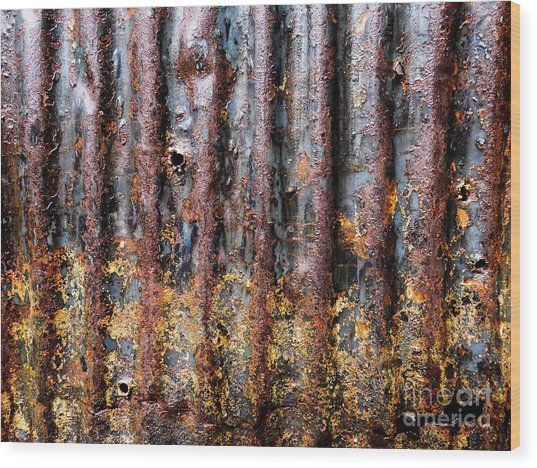 Aussie Galvanised Iron #12 Wood Print