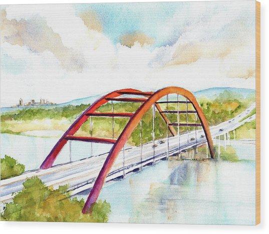 Austin 360 Bridge - Pennybacker Wood Print