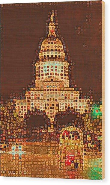 Austin Capitol At Night Wood Print