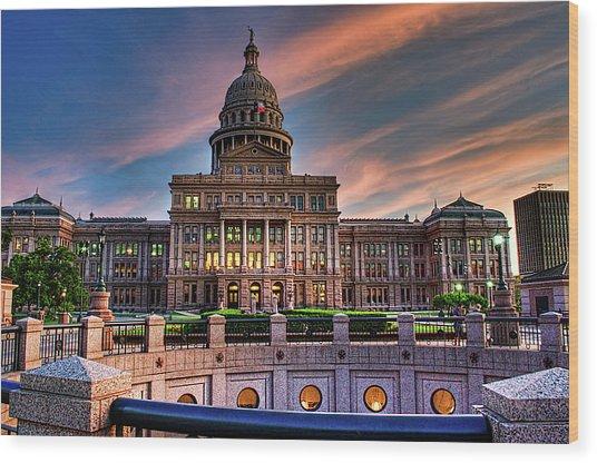 Austin Capitol Wood Print