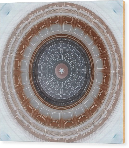 Austin Capitol Dome In Gray And Brown Wood Print