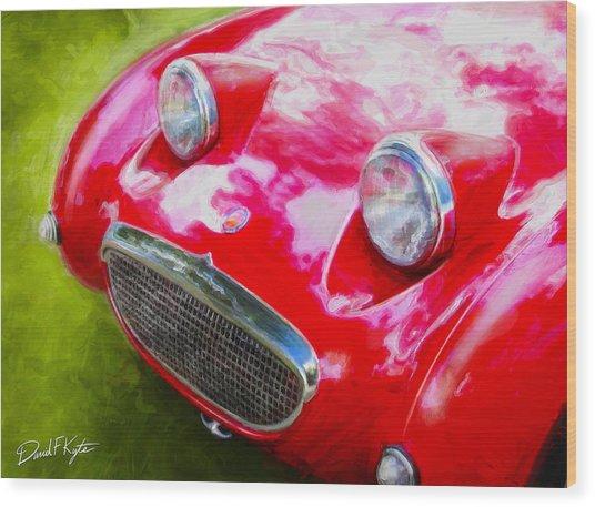 Austin Healey Bugeye Sprite Wood Print by David Kyte