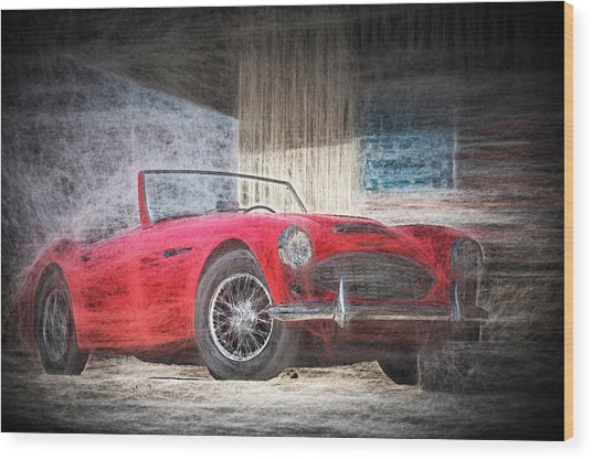 Austin Healey Chalk Study 4 Wood Print
