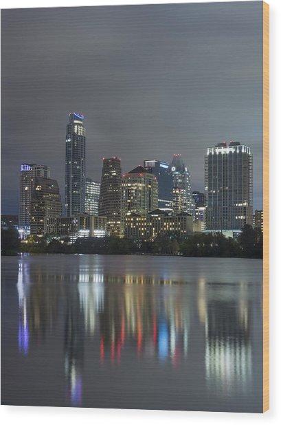 Austin Reflections Wood Print