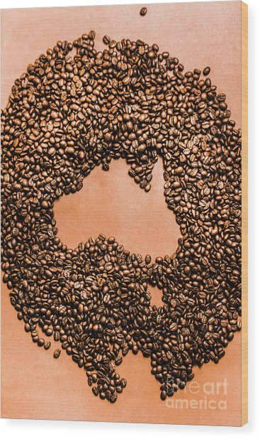 Australia Cafe Artwork Wood Print