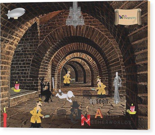 Autism Netherworlds Wood Print
