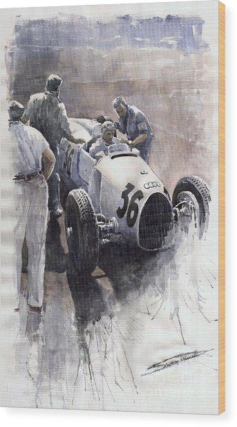 Auto Union B Type 1935 Italian Gp Monza B Rosermeyer Wood Print