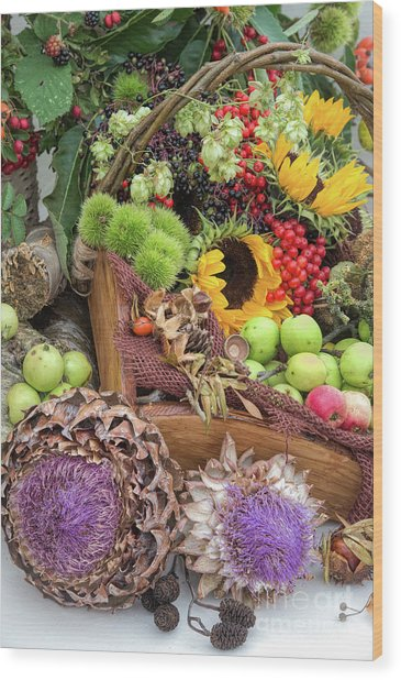Autumn Abundance Wood Print