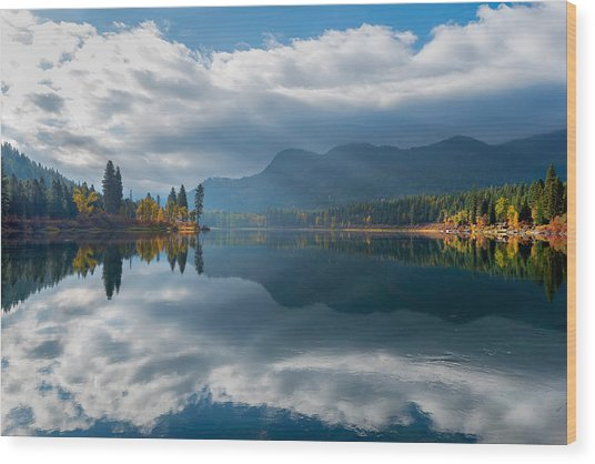 Autumn Along The Pend Oreille River Wood Print