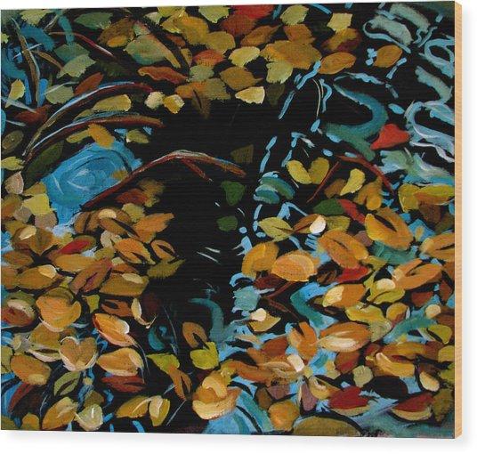 Autumn Wood Print by Art Nomad Sandra  Hansen