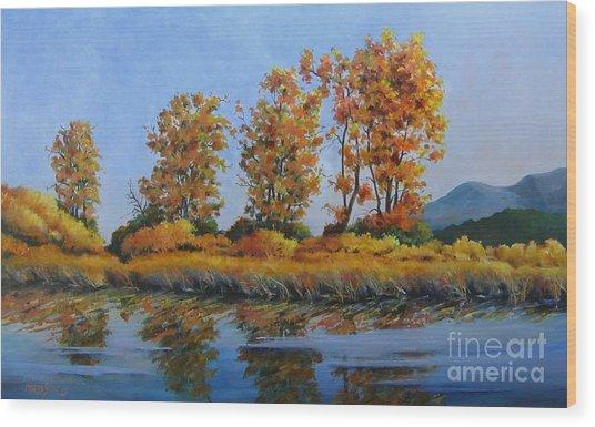 Autumn At Fraser Valley Wood Print by Marta Styk
