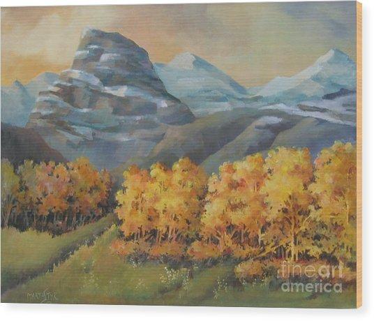 Autumn At Kananaskis Wood Print