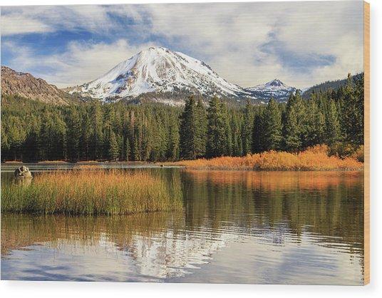 Autumn At Mount Lassen Wood Print