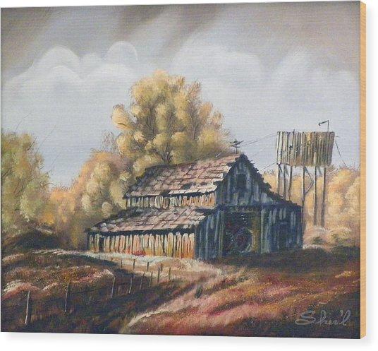 Autumn Barnyard Wood Print