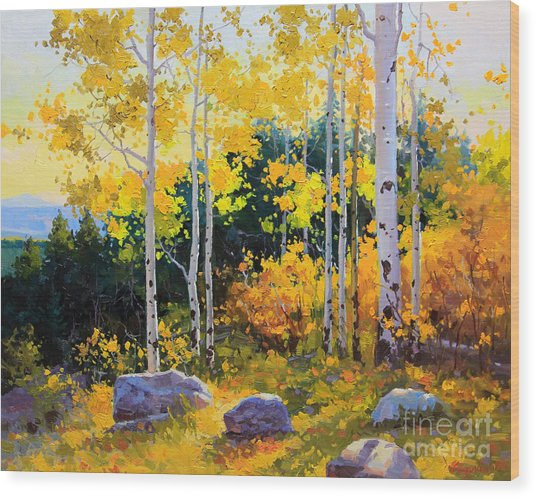 Autumn Beauty Of Sangre De Cristo Mountain Wood Print