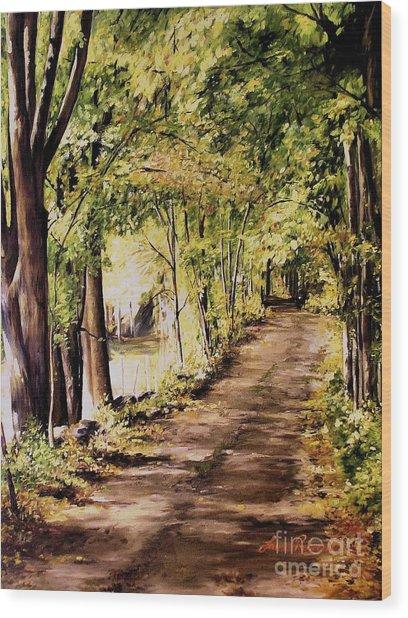 Autumn Begins In Underhill Wood Print