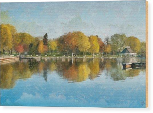 Autumn Blues Wood Print