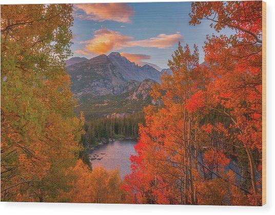 Autumn's Breath Wood Print