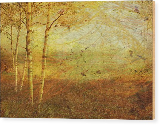 Autumn Breeze Wood Print