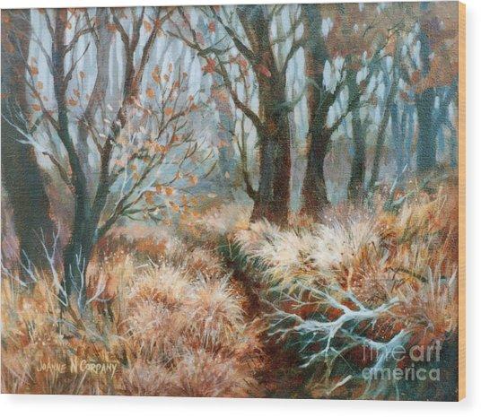 Autumn Brush Wood Print by JoAnne Corpany