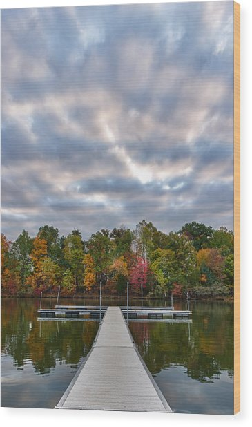 Autumn Colors At The Lake Wood Print