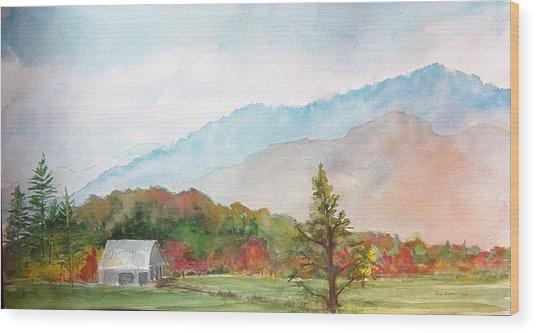 Autumn Colors Wood Print by Kris Dixon