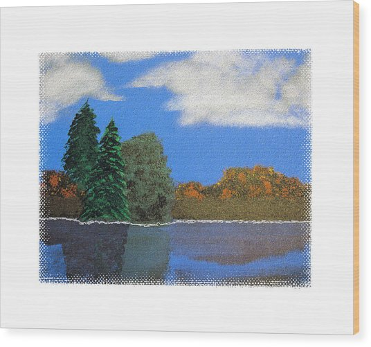 Autumn Dusk- A Tribute To Ross Wood Print by Robert Boyette