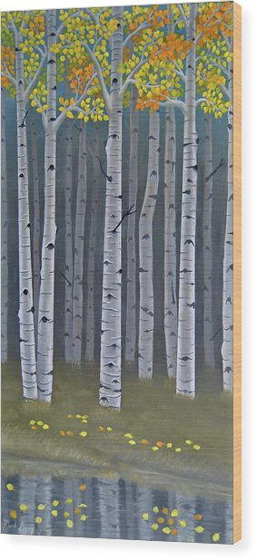 Autumn Embers II Wood Print