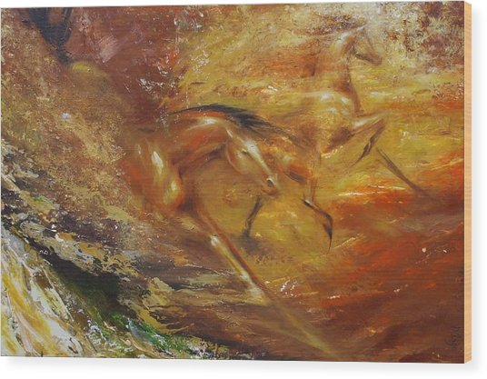 Autumn Equinox Wood Print