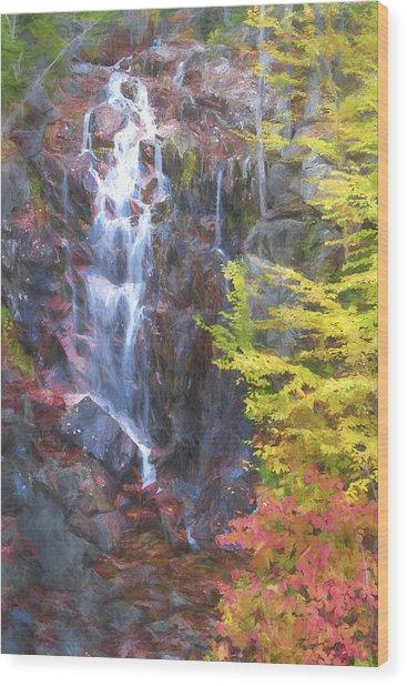 Autumn Falls Away II Wood Print by Jon Glaser