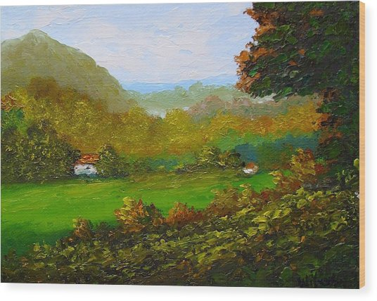 Autumn Wood Print by Fred Wilson